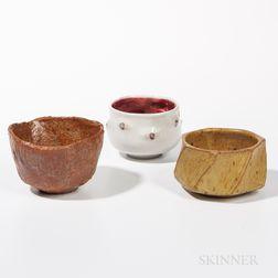 Three Art Pottery Tea Bowls