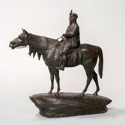 Bronze Figure of a Man on Horseback