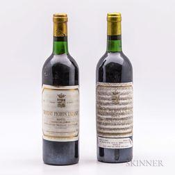 Chateau Pichon Longueville Comtesse de Lalande 1975, 2 bottles