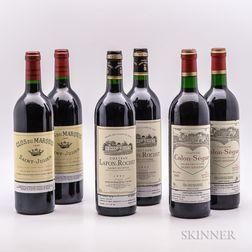 Mixed 1995 Bordeaux, 6 bottles