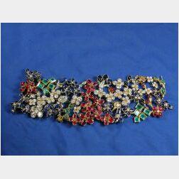 Diamond and Gem-set Bracelet