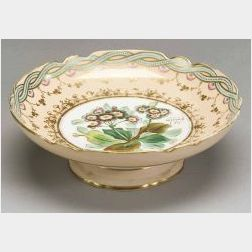 Botanical Decorated Porcelain Compote