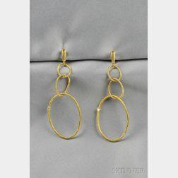 18kt Gold and Diamond Earpendants, Judith Ripka