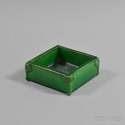 Green-glazed Square Bowl