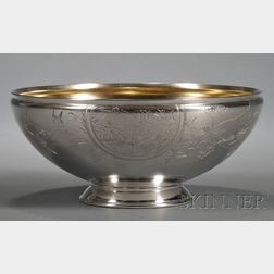 Whiting Manufacturing Co. Sterling Aesthetic Movement Fruit Bowl