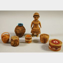 Seven Assorted Basketry Items