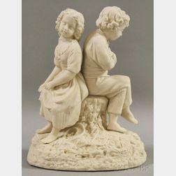 Parian Figural Group