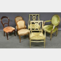 Six Assorted French Chairs