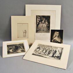 Five Prints with Female Subjects