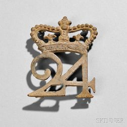 24th Regiment of Foot Cartridge Pouch Plate
