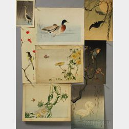 Eight Watanabe Seitei (1851-1918) Woodblock Prints