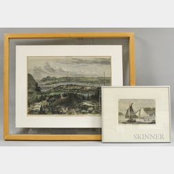 Two Framed Harper's Weekly   Colored Lithographs