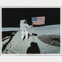 Apollo 14, Alan Shepard and the American Flag, EVA 1, February 1971.