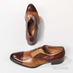 Pair of Two-tone Harris Leather Shoes
