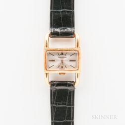 """Jaeger LeCoultre 18kt Gold """"Etrier"""" Driver's Wristwatch"""