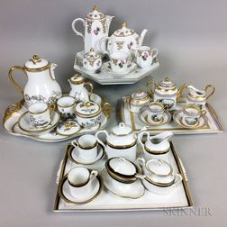 Four Porcelain Tea Sets