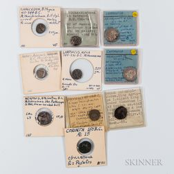 Ten Ancient Greek Coins