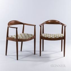 "Two Hans J. Wegner ""The Chair""-style Armchairs"
