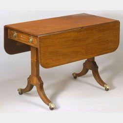 William IV Crossbanded Mahogany Drop-leaf Sofa Table