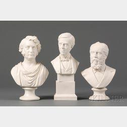 Three Parian Busts