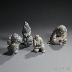 Four Inuit Sculptures
