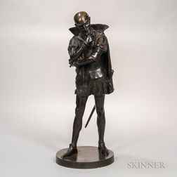 Pierre Marie Oge (French, 1817-1867)    Bronze Figure of Mephistopheles