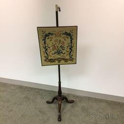 Georgian Mahogany Pole Screen