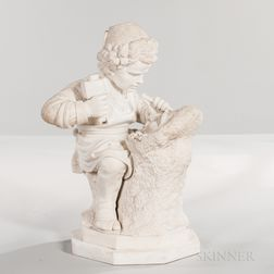 Carrara Marble Figure of a Young Sculptor