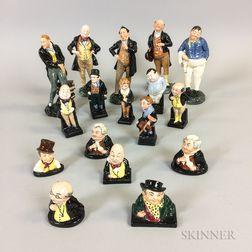 Seventeen Royal Doulton Ceramic Dickens Figures