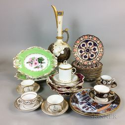Thirty-one Pieces of English Ceramic Tableware