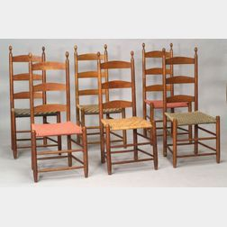 Set of Six Shaker Maple Side Chairs