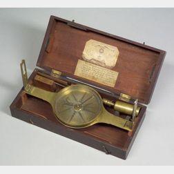 Early Richard Patten Engine-Divided Brass Surveyor's Compass