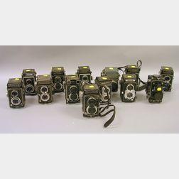 Fifteen Mixed TLR Cameras