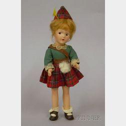 "Madame Alexander ""Wee Bonnie Alexa"" Composition Doll"