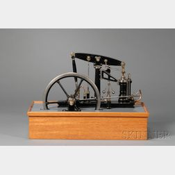 Working Model of a Vertical Piston Steam Engine