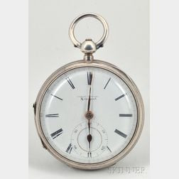 Silver Consular Case Single Roller Lever Watch by Lewis Samuel