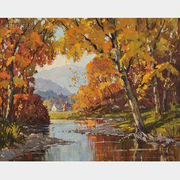 Robert Shaw Wesson (American, 1902-1967)      Cambridge Valley Brook