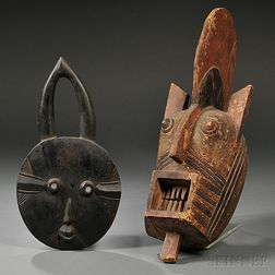 Two African Carved Wood Masks