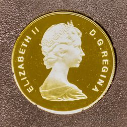 1979 Canadian $100 Proof International Year of the Child Gold Coin.