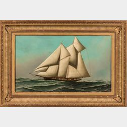 American School, Late 19th Century      Portrait of a Yacht