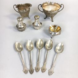 Group of Early Gorham Sterling Silver Tableware