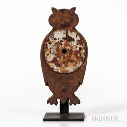 Cast Iron Owl Silhouette Gallery Shooting Target