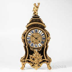 Estienne Baillon Fire-gilt Ormolu-mounted Boulle Clock