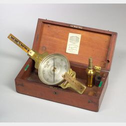 Brass Vernier Surveyor's Compass by B. K. Hagger & Son