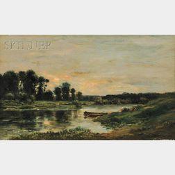 Charles François Daubigny (French, 1817-1878)      Untitled [La vallée de l'Oise]