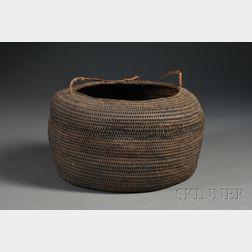 Polynesian Coiled Basketry Bowl