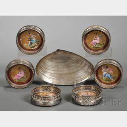 Seven Decorative Sterling and Silver Plate Tablewares