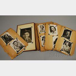 1940s Movie Star Publicity Photo Scrapbook