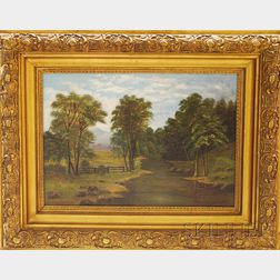 Attributed to Henry Chapman Ford (American, 1828-1894)      Summer Landscape.