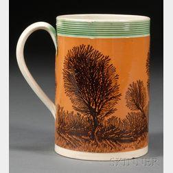 Mochaware Quart Mug with Dendritic Decoration